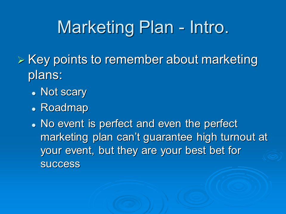 Marketing Plan - Intro.