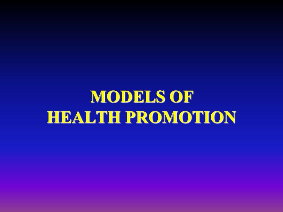 MODELS OF HEALTH PROMOTION