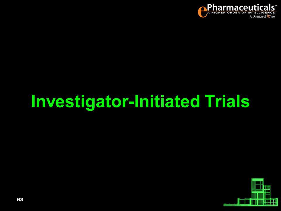 63 Investigator-Initiated Trials