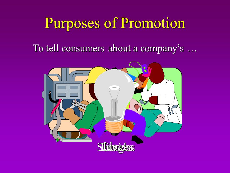Purposes of Promotion To tell consumers about a companys … Goods ServicesImages Ideas