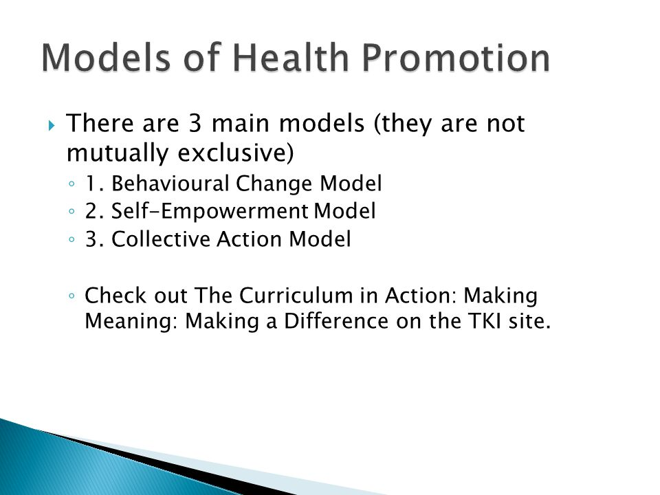 There are 3 main models (they are not mutually exclusive) 1.