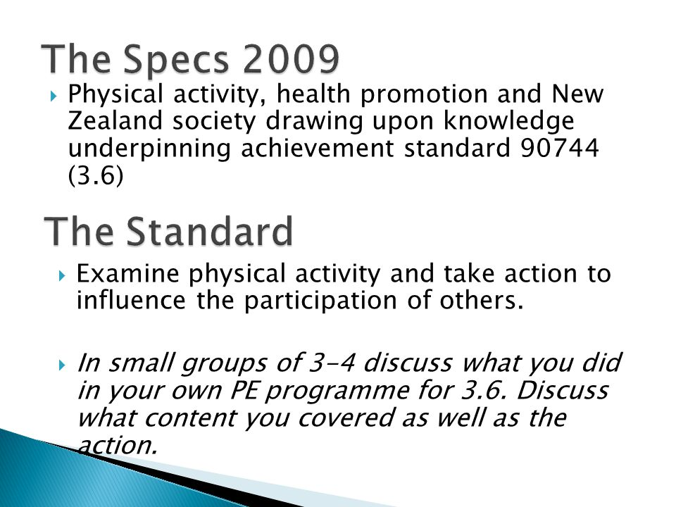 What would you like to include in a physical activity programme.
