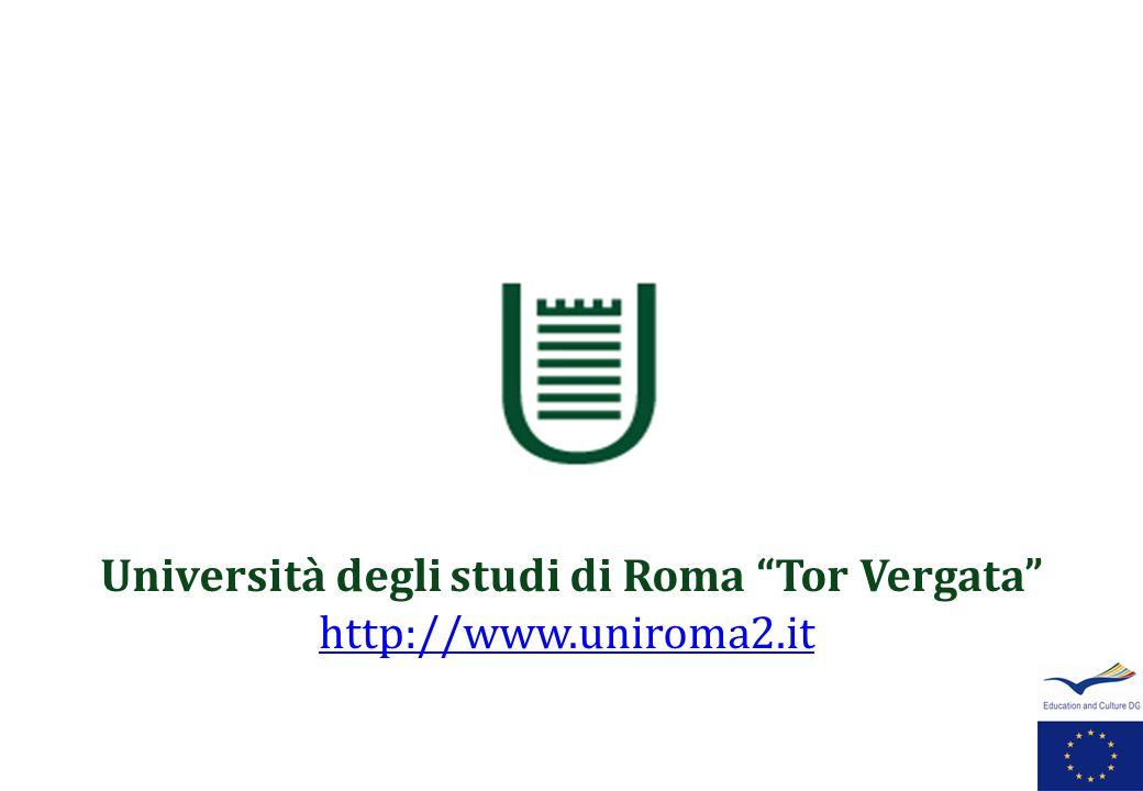 Università degli studi di Roma Tor Vergata http://www.uniroma2.it