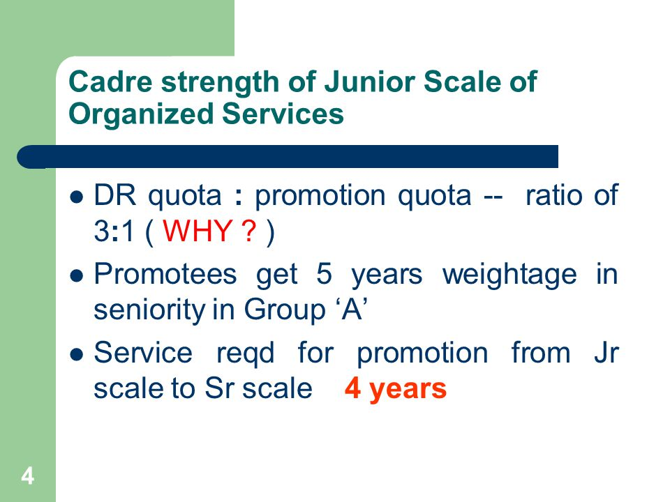 25 Promotion to Group A / Senior Scale in Misc.