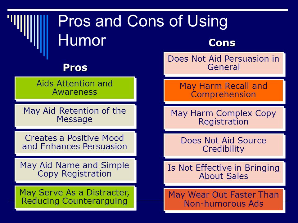 Humorous messages may be effective because they enhance attention and may reduce counter-arguing.