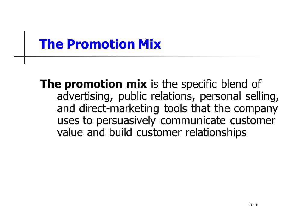A View of the Communications Process Integrated marketing communication involves identifying the target audience and shaping a well- coordinated promotional program to obtain the desired audience response Marketers are moving toward viewing communications as managing the customer relationship over time 14-15