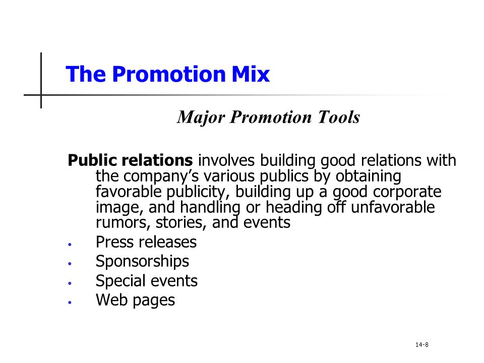 Setting the Total Promotion Budget and Mix Shaping the Overall Promotion Mix The Nature of Each Promotion Tool Sales promotion includes coupons, contests, cents-off deals, and premiums that attract consumer attention and offer strong incentives to purchase.