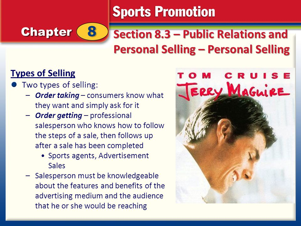 Types Personal Personal Selling Types of