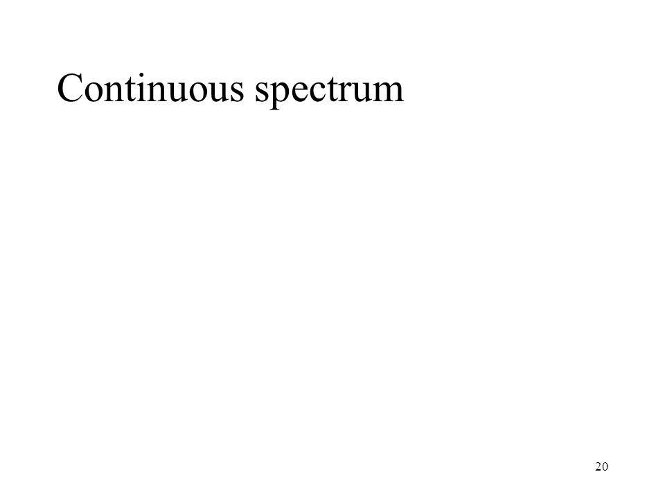 20 Continuous spectrum