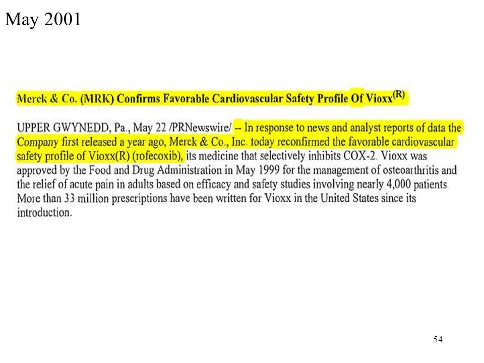 54 May 2001