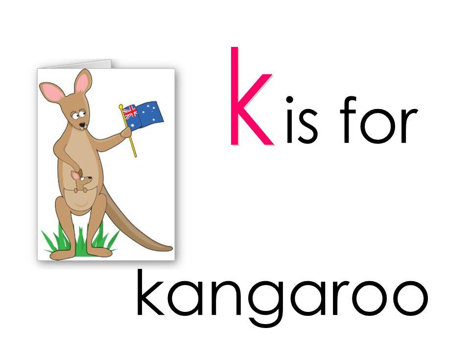 is for kangaroo