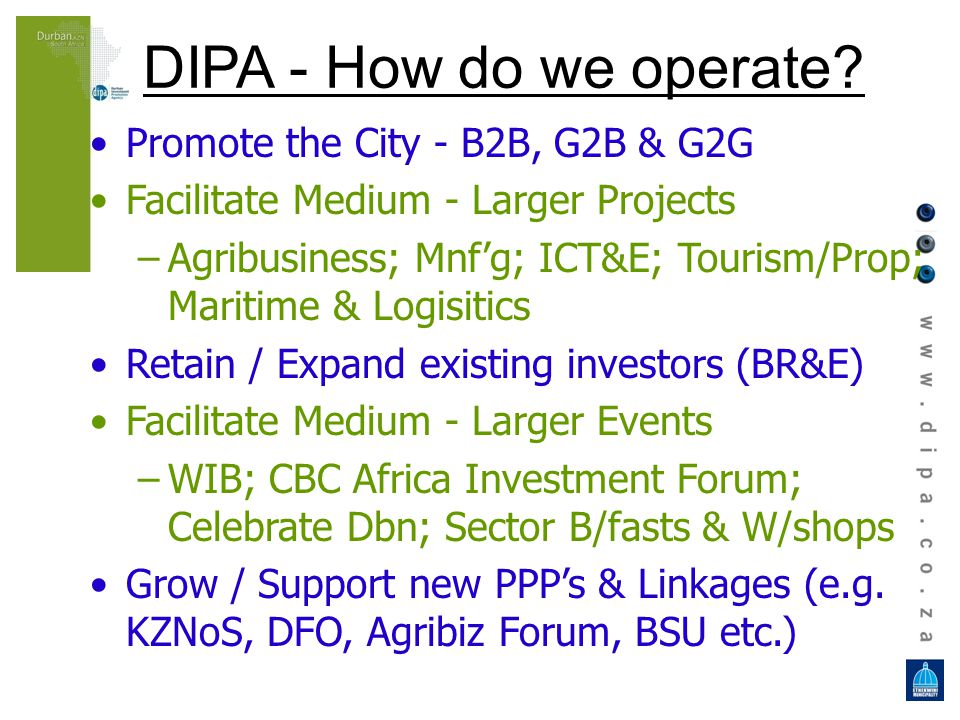 DIPA - How do we operate.