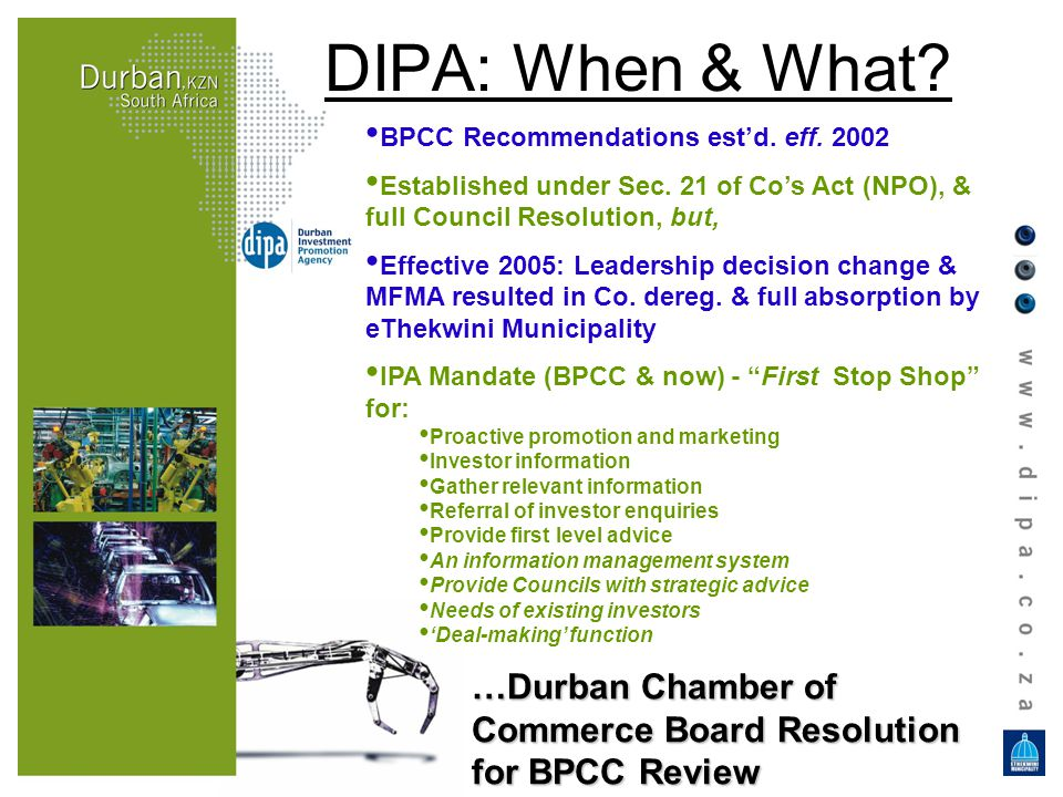 BPCC Recommendations estd. eff. 2002 Established under Sec.