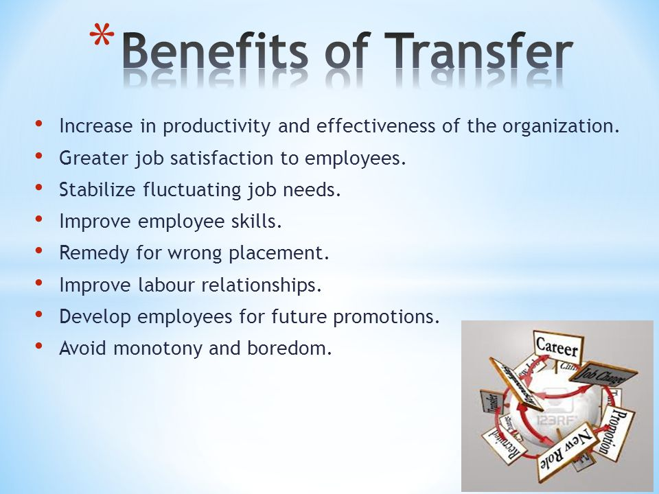 Increase in productivity and effectiveness of the organization.
