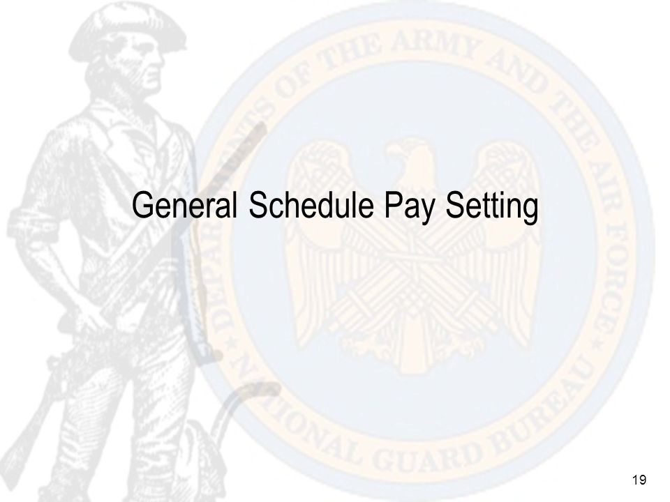 19 General Schedule Pay Setting
