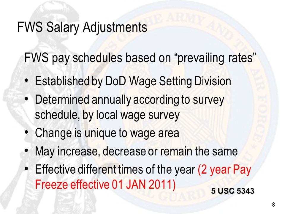 59 Special Pay GS Night Pay Differential Regularly scheduled work between 1800-0600 Basic pay + 10% of basic pay Paid only for regularly scheduled hours actually worked at night Not used to calculate overtime, Sunday or holiday pay 5 CFR 550.121