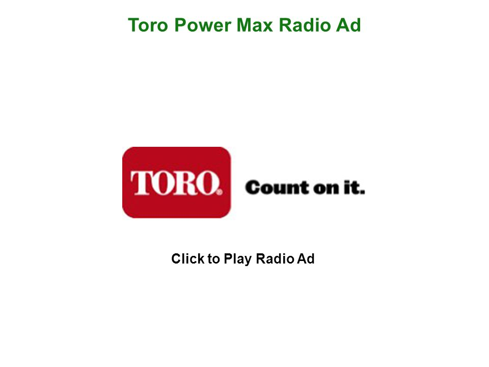 Toro Power Max News Release (Page 1)