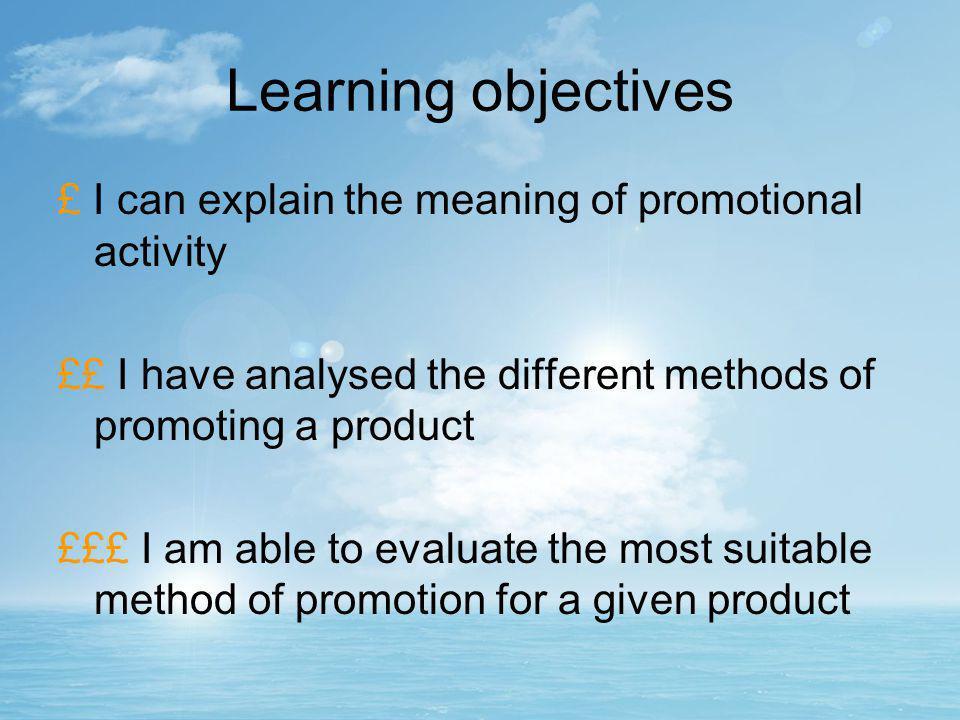 Marketing mix: Promotion GCSE Business studies Unit 2 – Section 7: Marketing