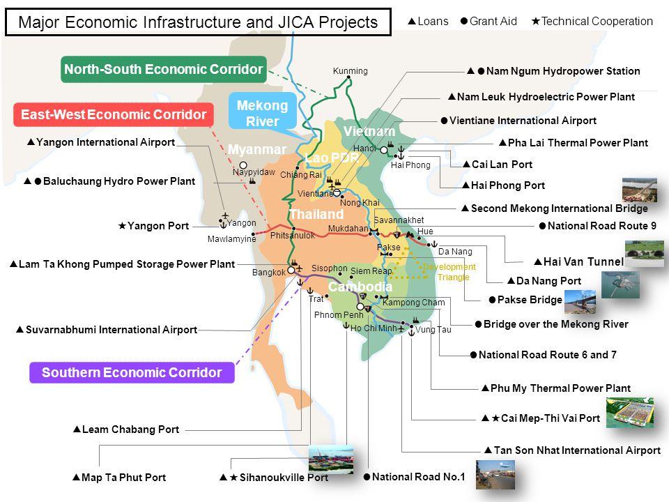 8 Map Ta Phut Port Lam Ta Khong Pumped Storage Power Plant Suvarnabhumi International Airport Sihanoukville Port Cai Mep-Thi Vai Port Leam Chabang Por