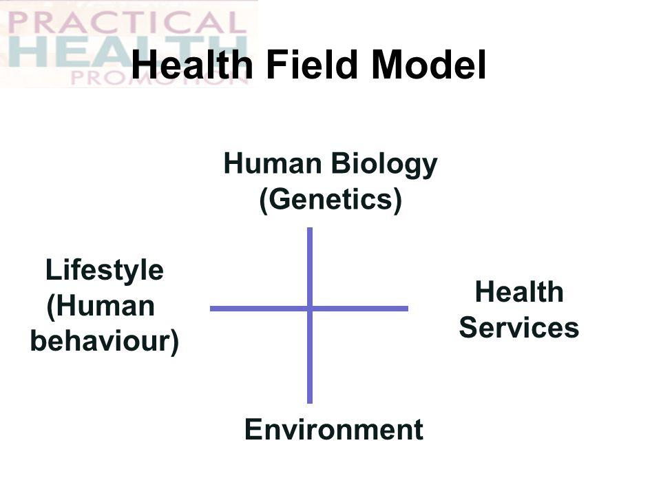 Health Field Model Human Biology (Genetics) Environment Health Services Lifestyle (Human behaviour)
