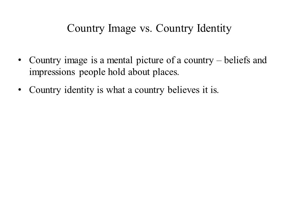 Country Image vs.