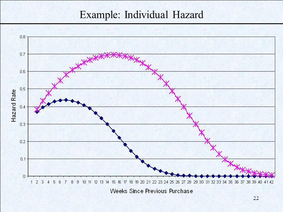 22 Example: Individual Hazard