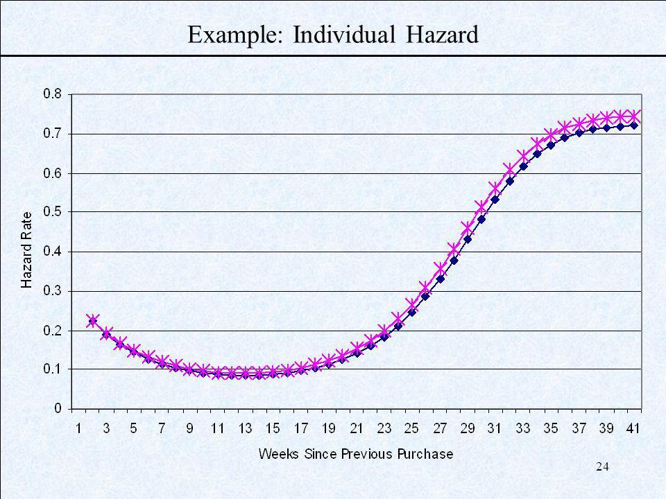 24 Example: Individual Hazard