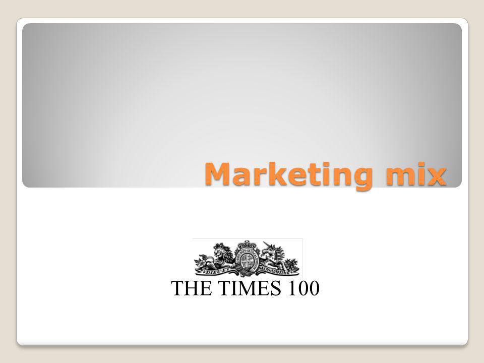 THE TIMES 100 Promotion The aims of promotion are to: Raise awareness Encourage sales Create or change a brand image Maintain market share