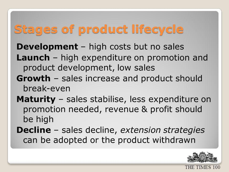 THE TIMES 100 Extension strategies Extension strategies should maintain or increase sales.