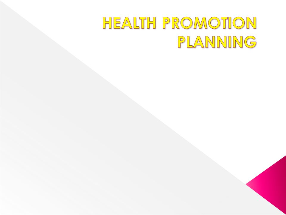 How will you know whether your health promotion is successful.