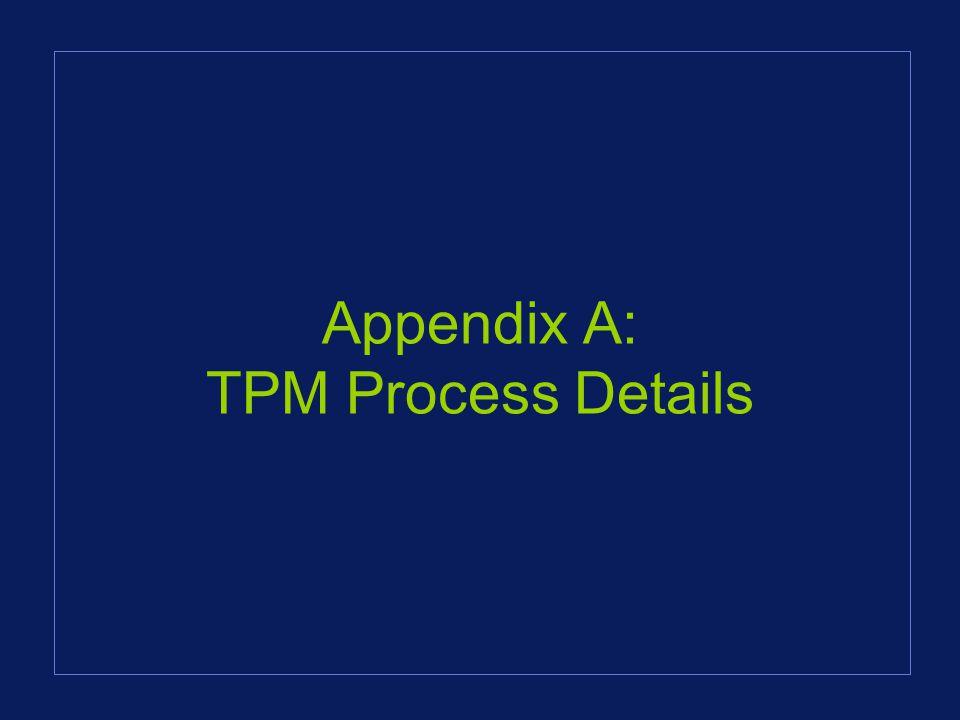 Appendix A: TPM Process Details