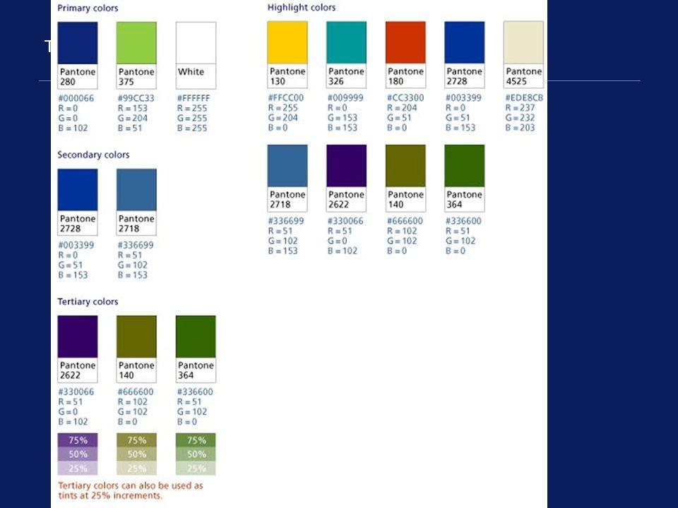The Deloitte color palette
