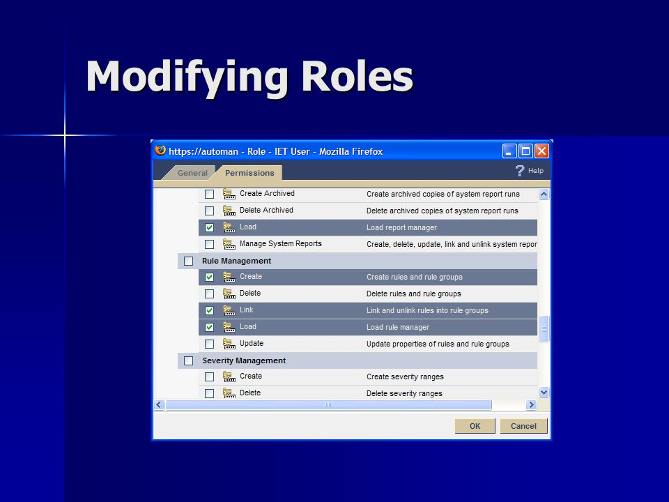Modifying Roles