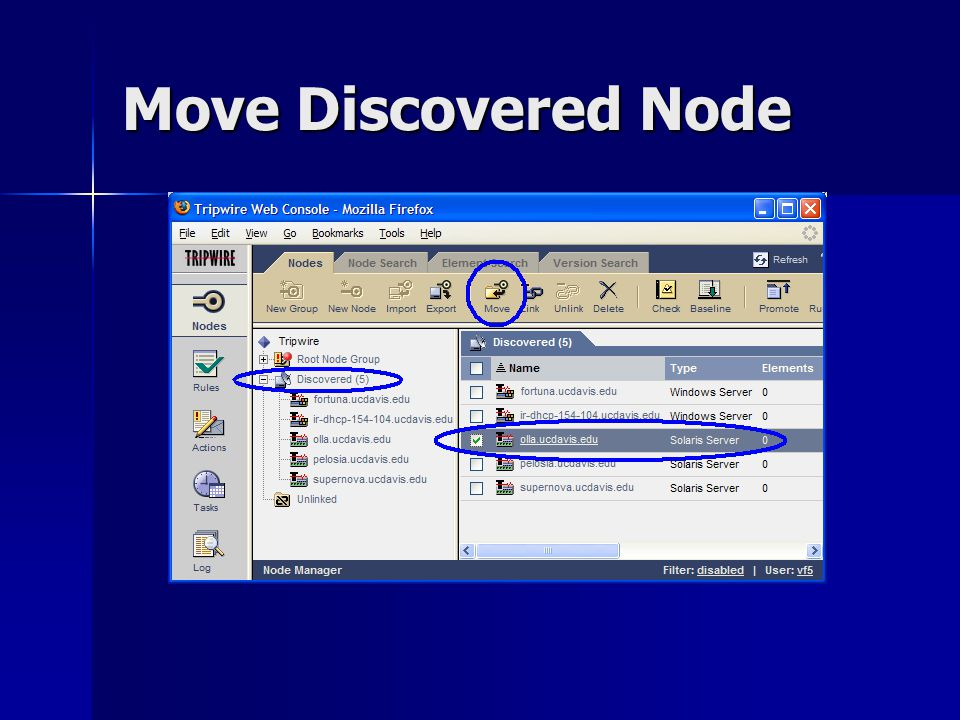 Move Discovered Node