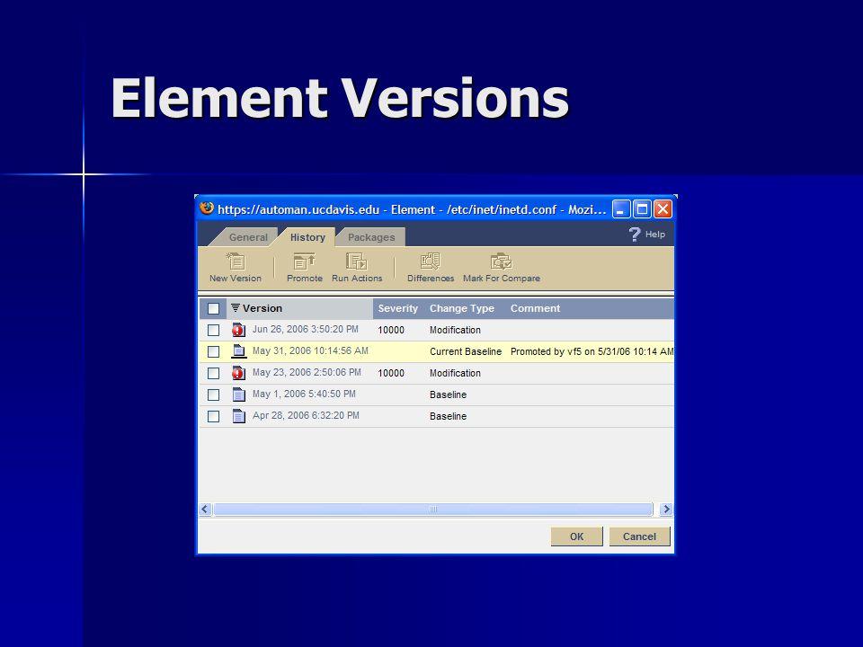 Element Versions