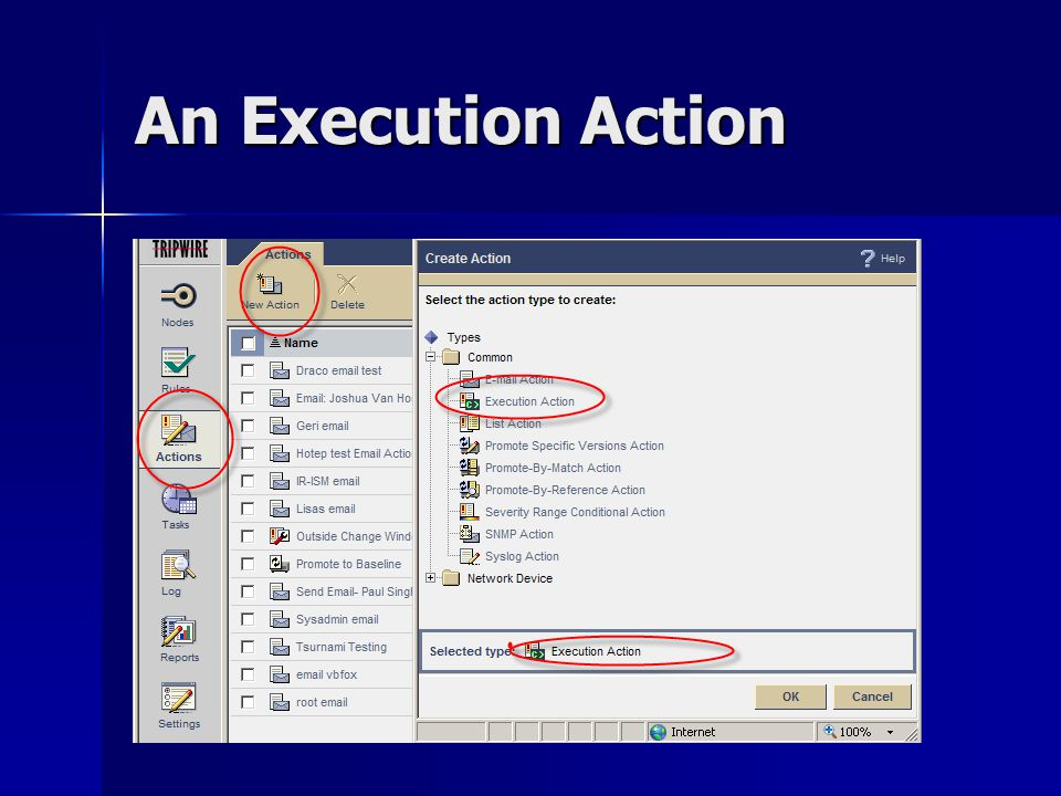 An Execution Action
