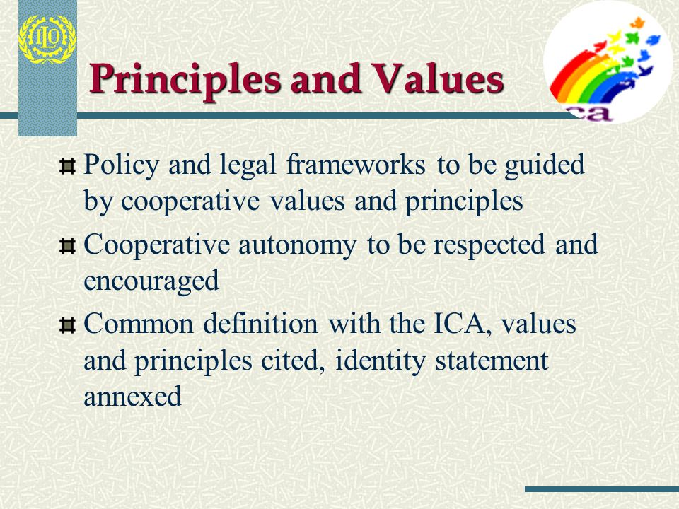Universal Relevance Social objectives Community Values and Principles Economic objectives BusinessCompetitiveness