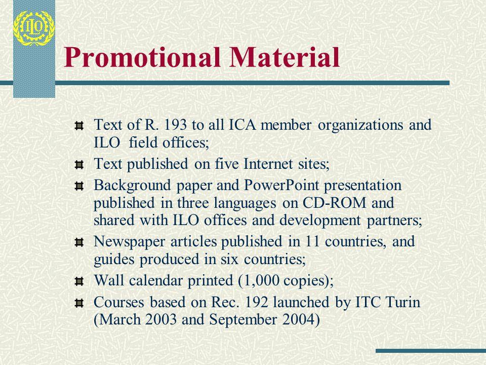III.Promotional Activities
