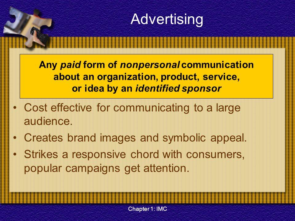 Chapter 1: IMC Importance of IMC Relationship marketing.
