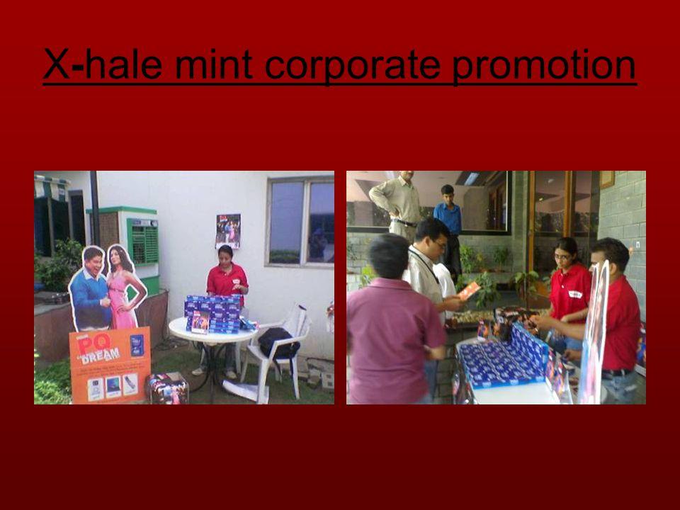 X-hale mint corporate promotion