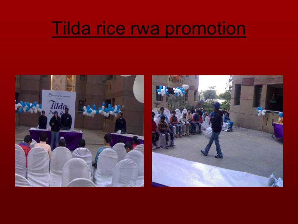 Tilda rice rwa promotion