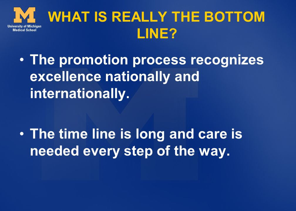 WHAT IS REALLY THE BOTTOM LINE.