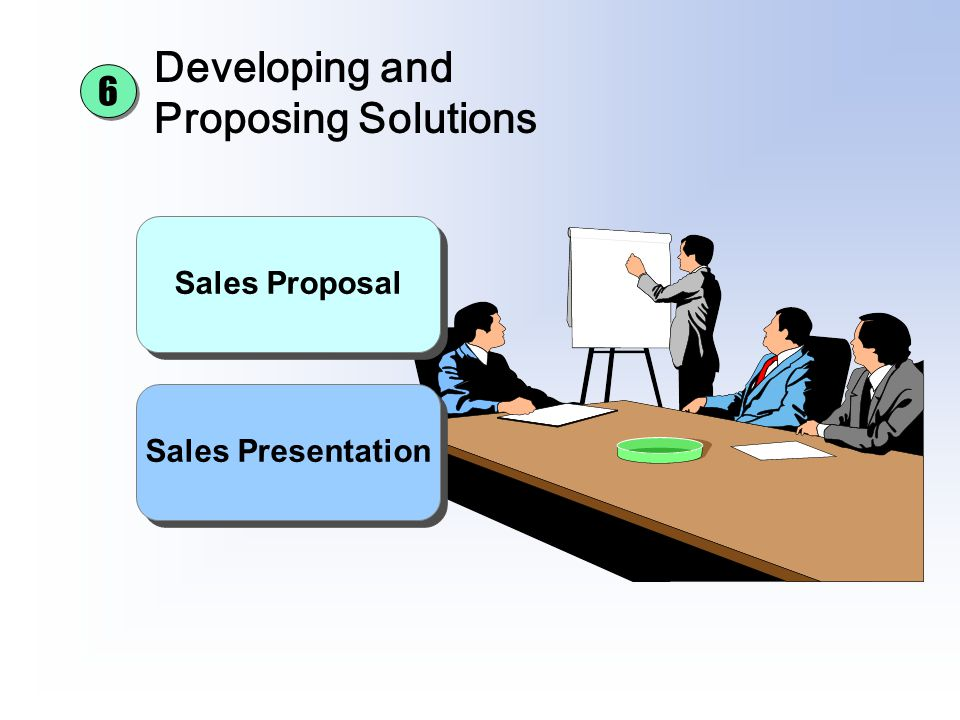 Developing and Proposing Solutions Sales Proposal Sales Presentation 6 6