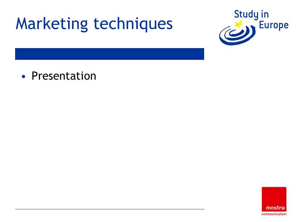 Marketing techniques Presentation