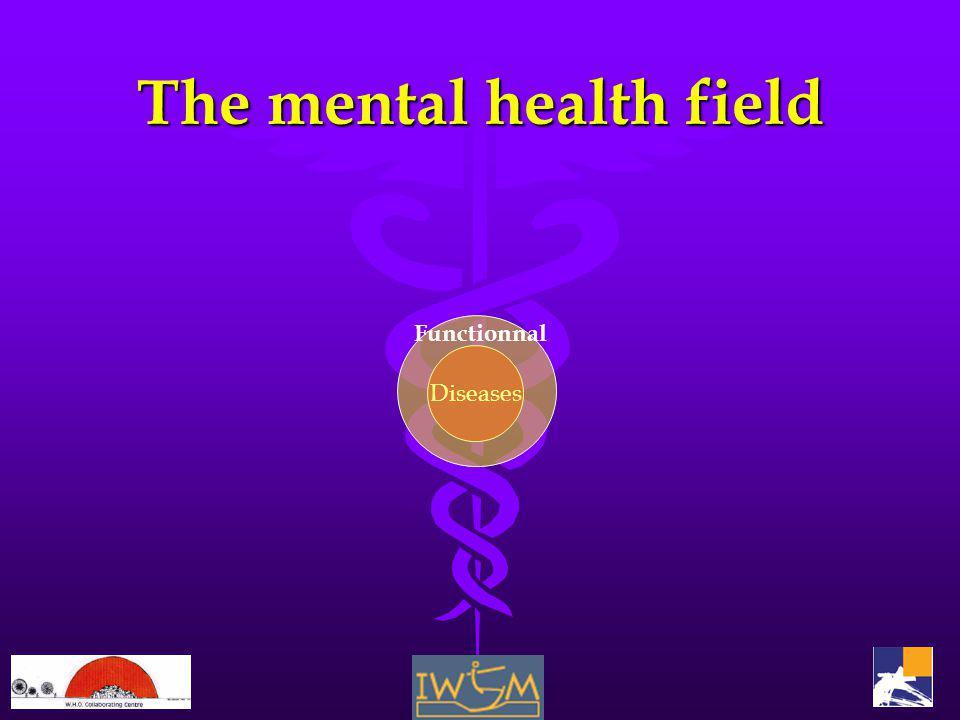 The mental health field Diseases Functionnal