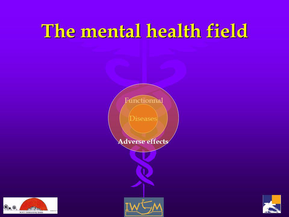 The mental health field Diseases Functionnal Adverse effects