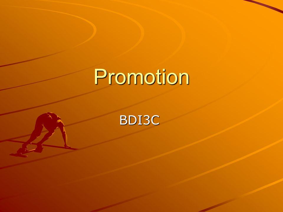 Promotion BDI3C