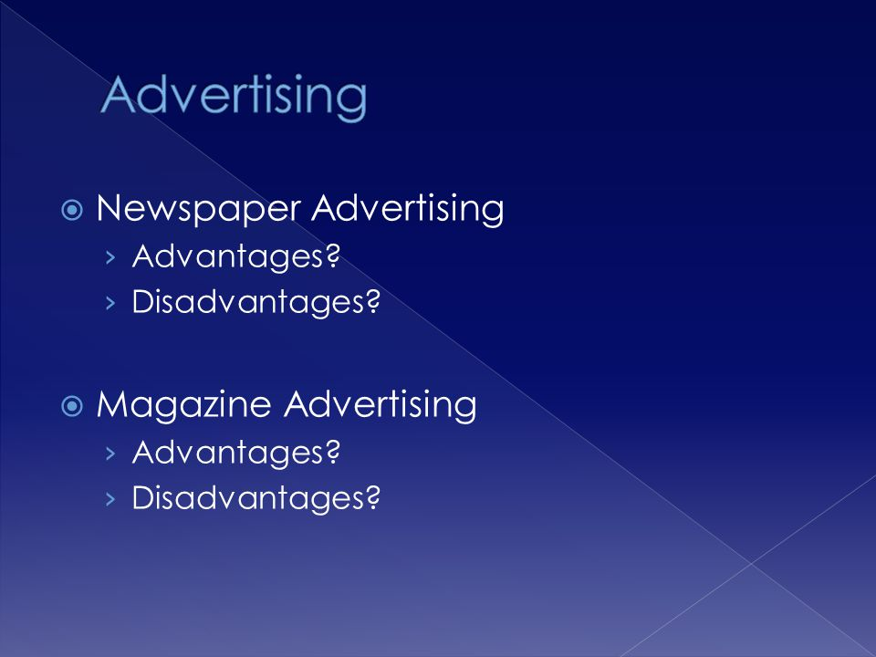 Direct mail advertising – fliers, catalogs, letters, email and other correspondence Advantages.
