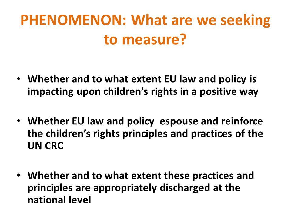 PHENOMENON: What are we seeking to measure.