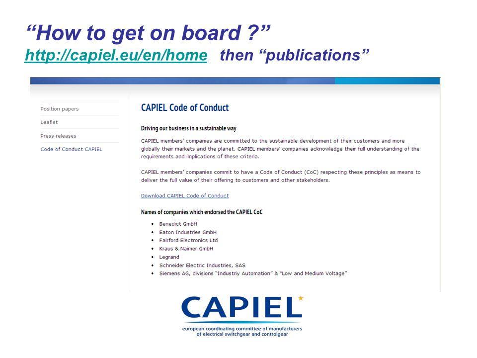 How to get on board http://capiel.eu/en/home then publications http://capiel.eu/en/home